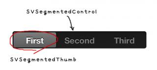 SVSegmentedControlの構成