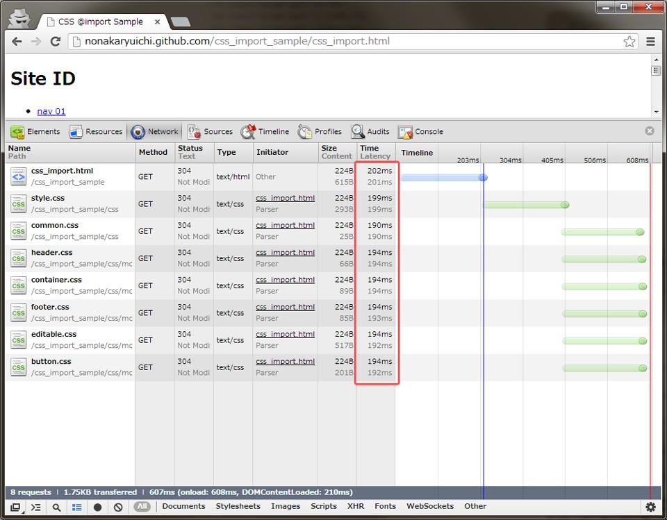 Chrome CSS @import