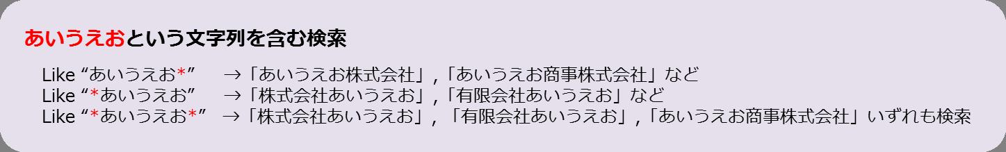 Like演算子の*使用例