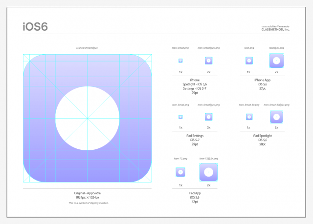 iOS7 Icon Template Illustrator