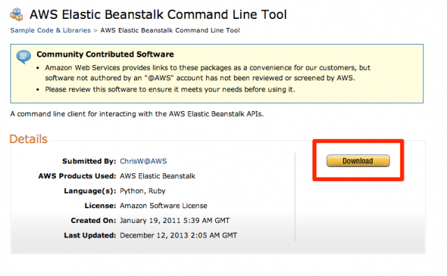 AWS_Elastic_Beanstalk_Command_Line_Tool___Sample_Code___Libraries___Amazon_Web_Services
