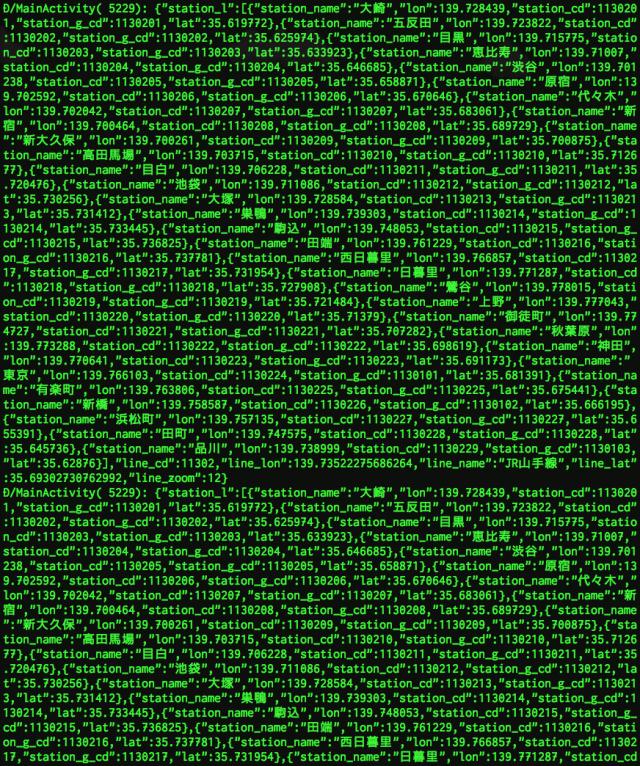 未整形JSONログ