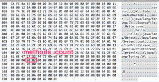 バイナリエディタでmethods_countを見る