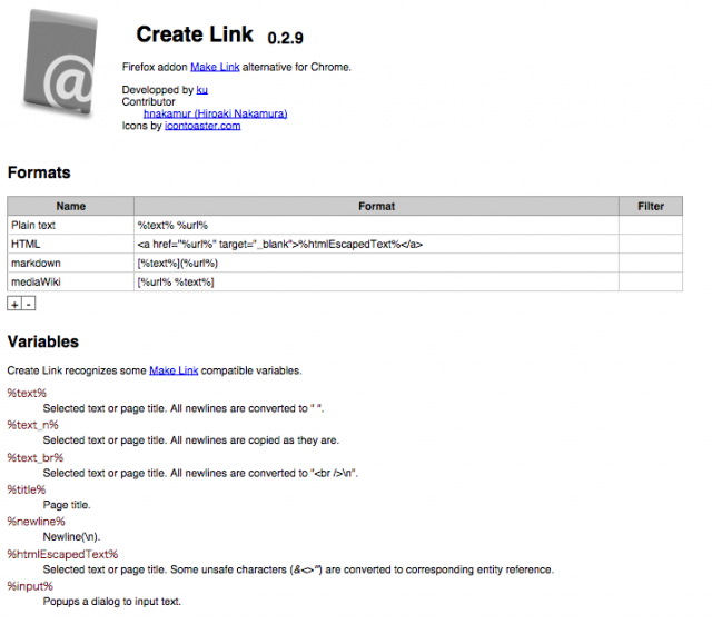 create-link-configure
