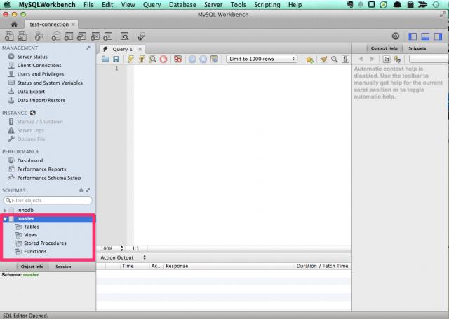 MySQL WorkbenchでRDSの中身を確認
