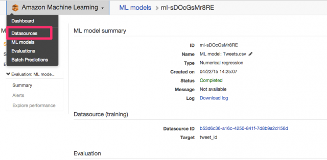Amazon_Machine_Learning_Management_Console 14