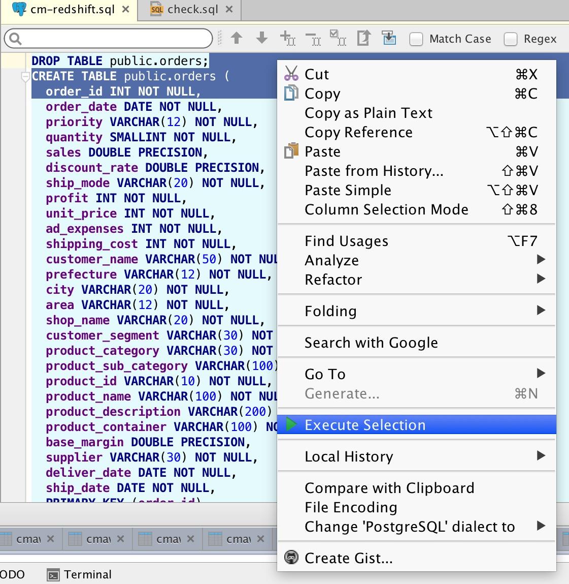 Amazon RedshiftのMac OS X向けGUIツールとして『Intellij IDEA Ultimate