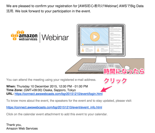 _AWS初心者向けWebinar__AWSでBig_Data活用_Confirmation_-_sasaki_daisuke_classmethod_jp_-_Classmethod_jp_メール 2