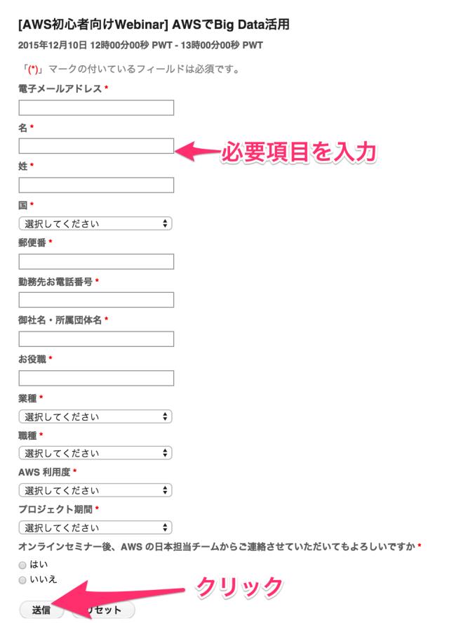 イベント登録ページ