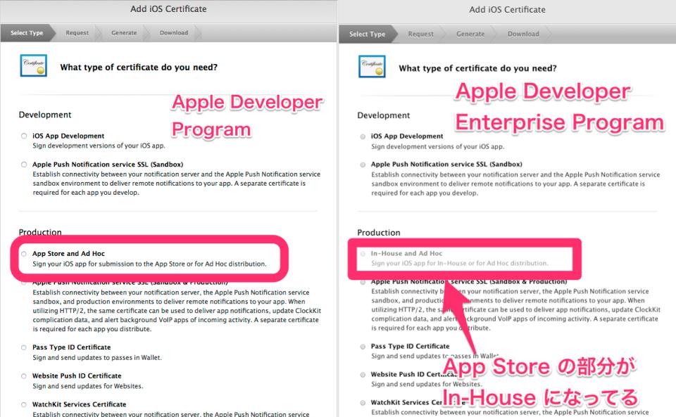 iOS] Apple Developer Program と Apple Developer Enterprise