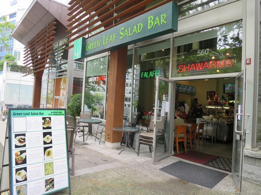 Green Leaf Salad Barの入り口