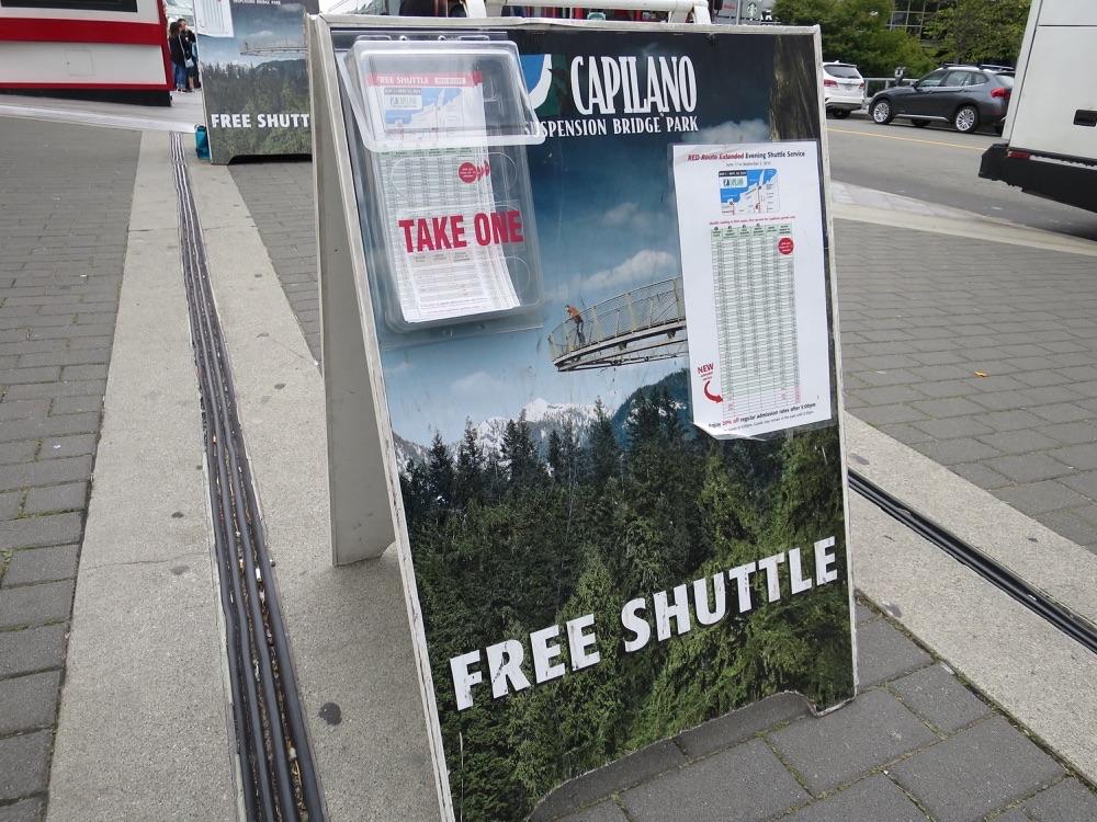 Canada Placeのバス乗り場