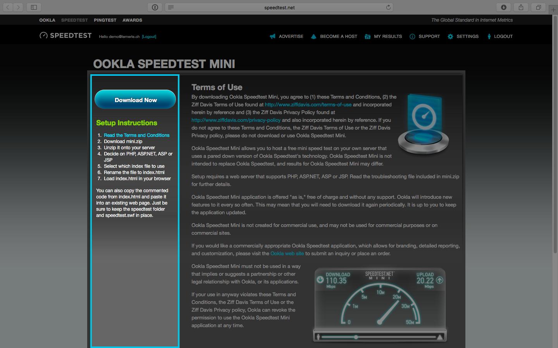ookla speedtest mini と aws elastic beanstalk で自前のスピードテスト