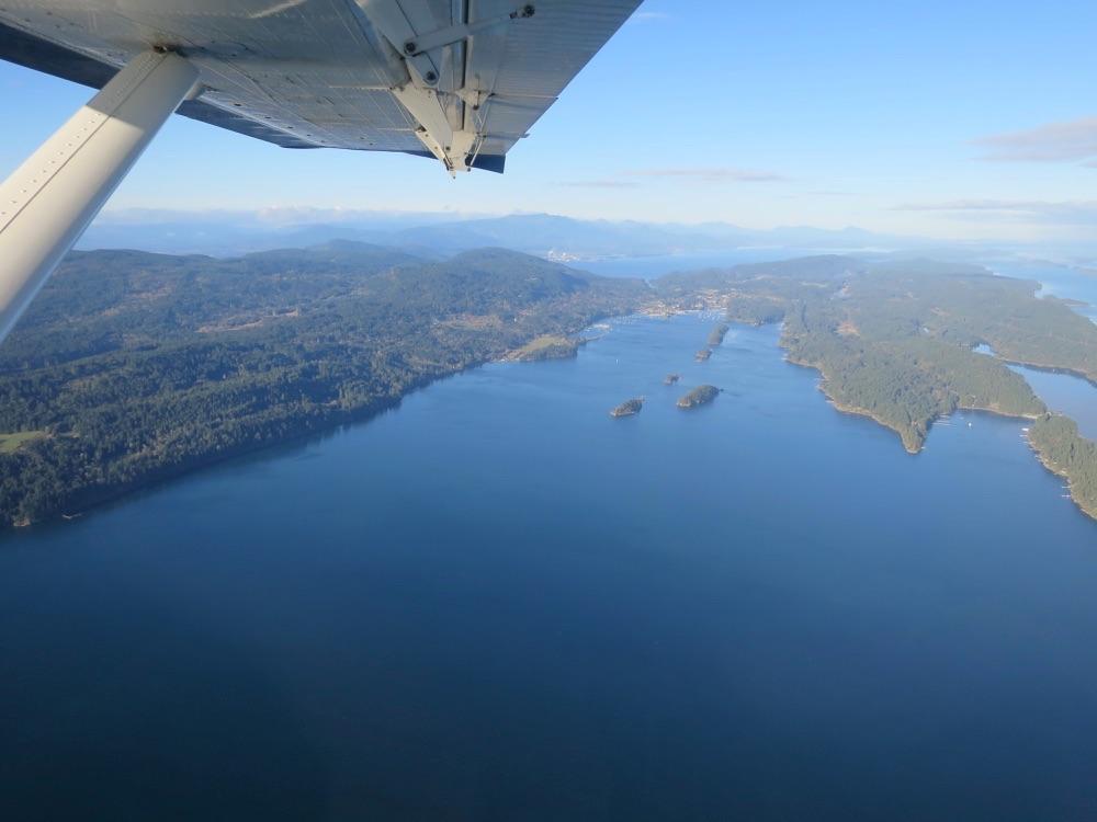 Seaplaneからの海の眺め