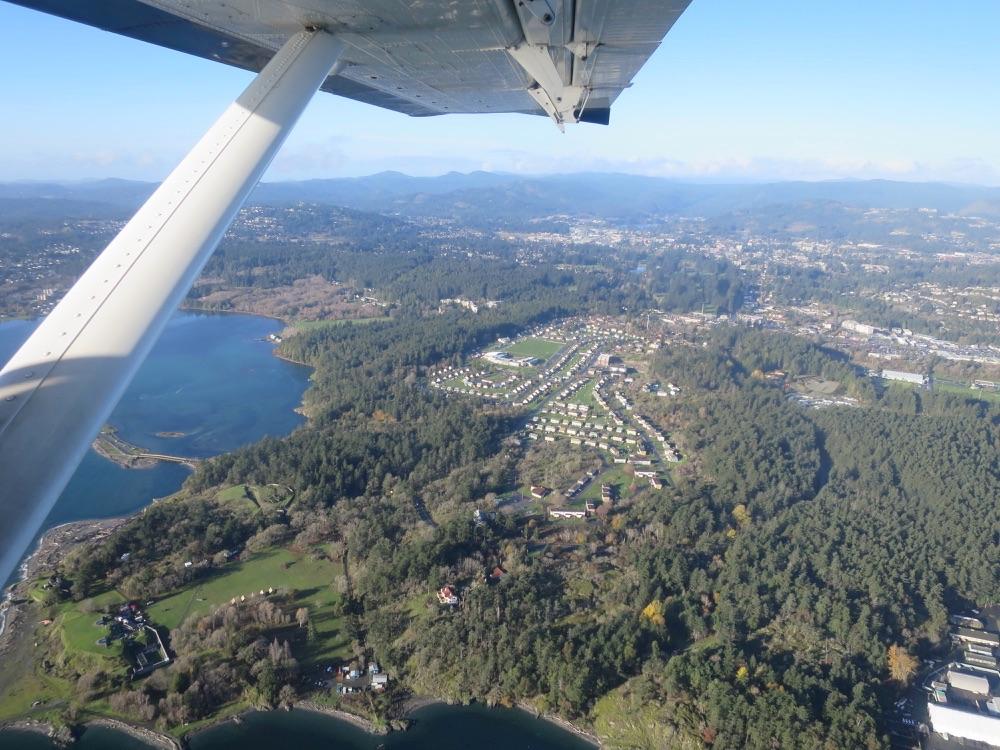 Seaplaneからの陸の眺め