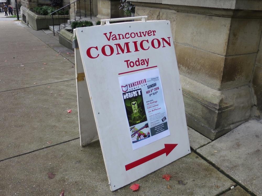Comicon会場の立て看板