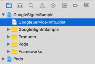 GoogleService-Info_plistを追加する