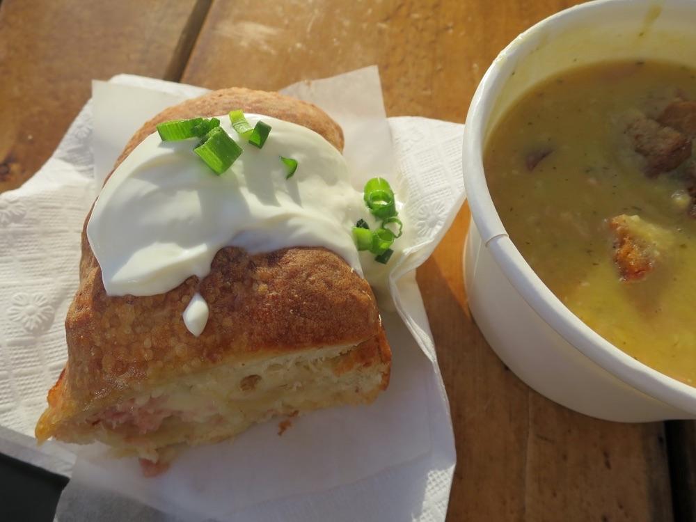 handbrotとスープ