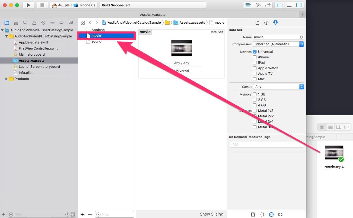 iOS] サウンドや動画素材をAsset Catalogで管理する | DevelopersIO