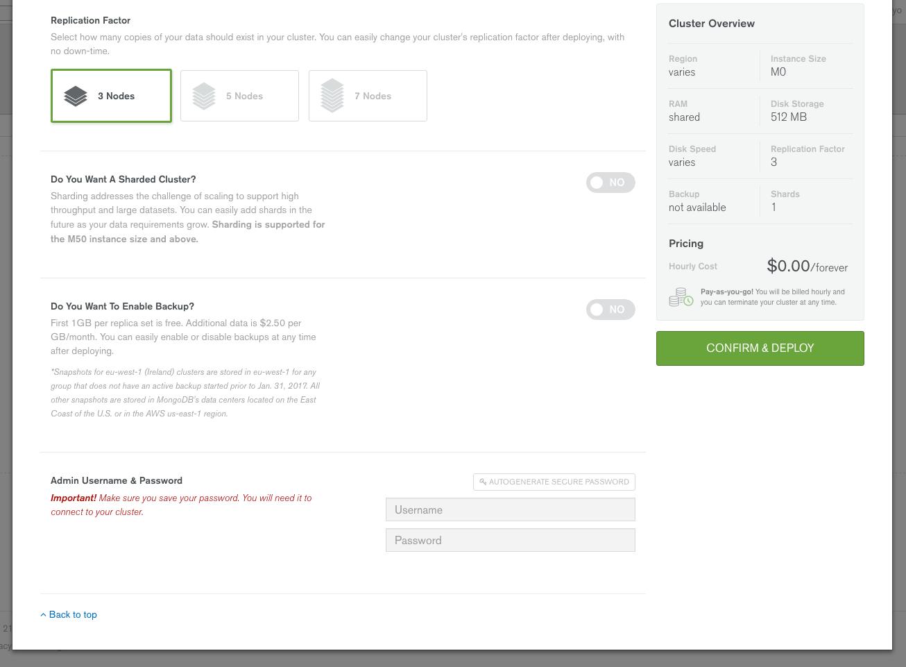 MongoDB as a Service:MongoDB Atlas に無料プランが登場しま