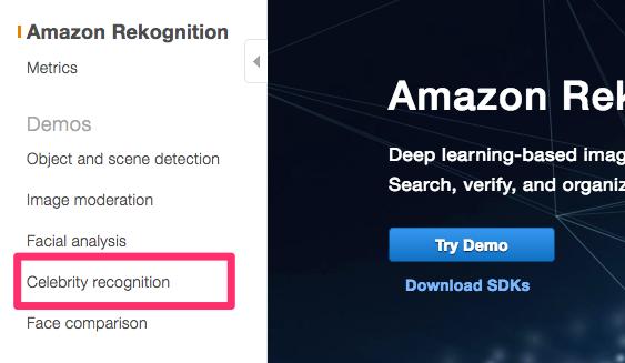 Rekognition_Console