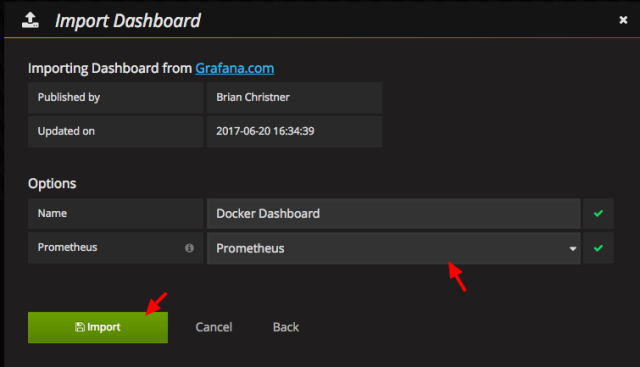 Grafana New dashboard 1