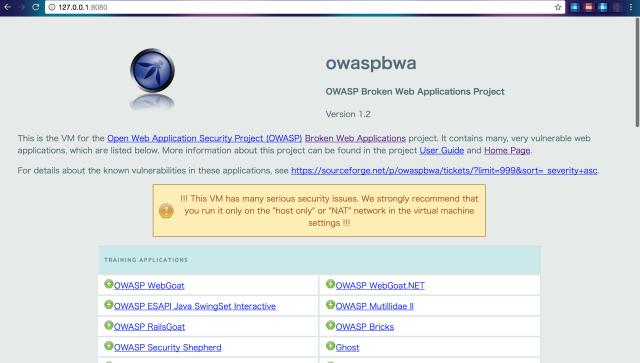 owaspbwa_OWASP_Broken_Web_Applications