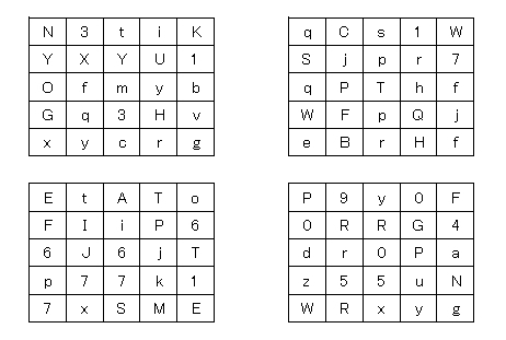 password-matrix