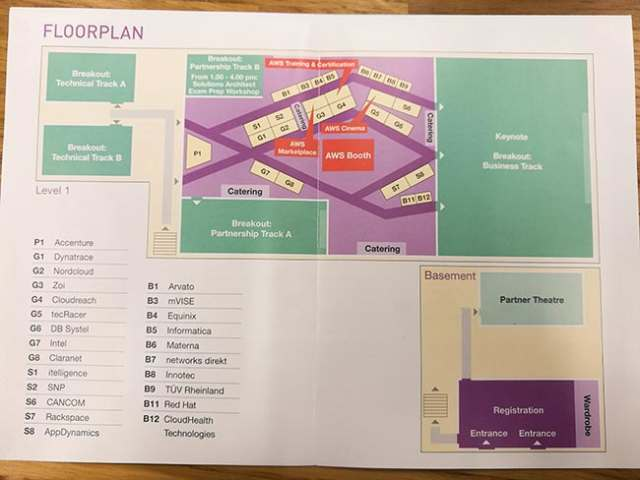Floor plan of event