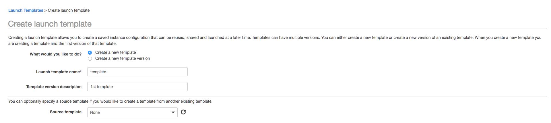 新機能 launch templates for amazon ec2 instancesを試してみた