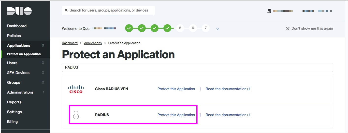 Amazon WorkSpaces + Duo RADIUSアプリケーション登録2