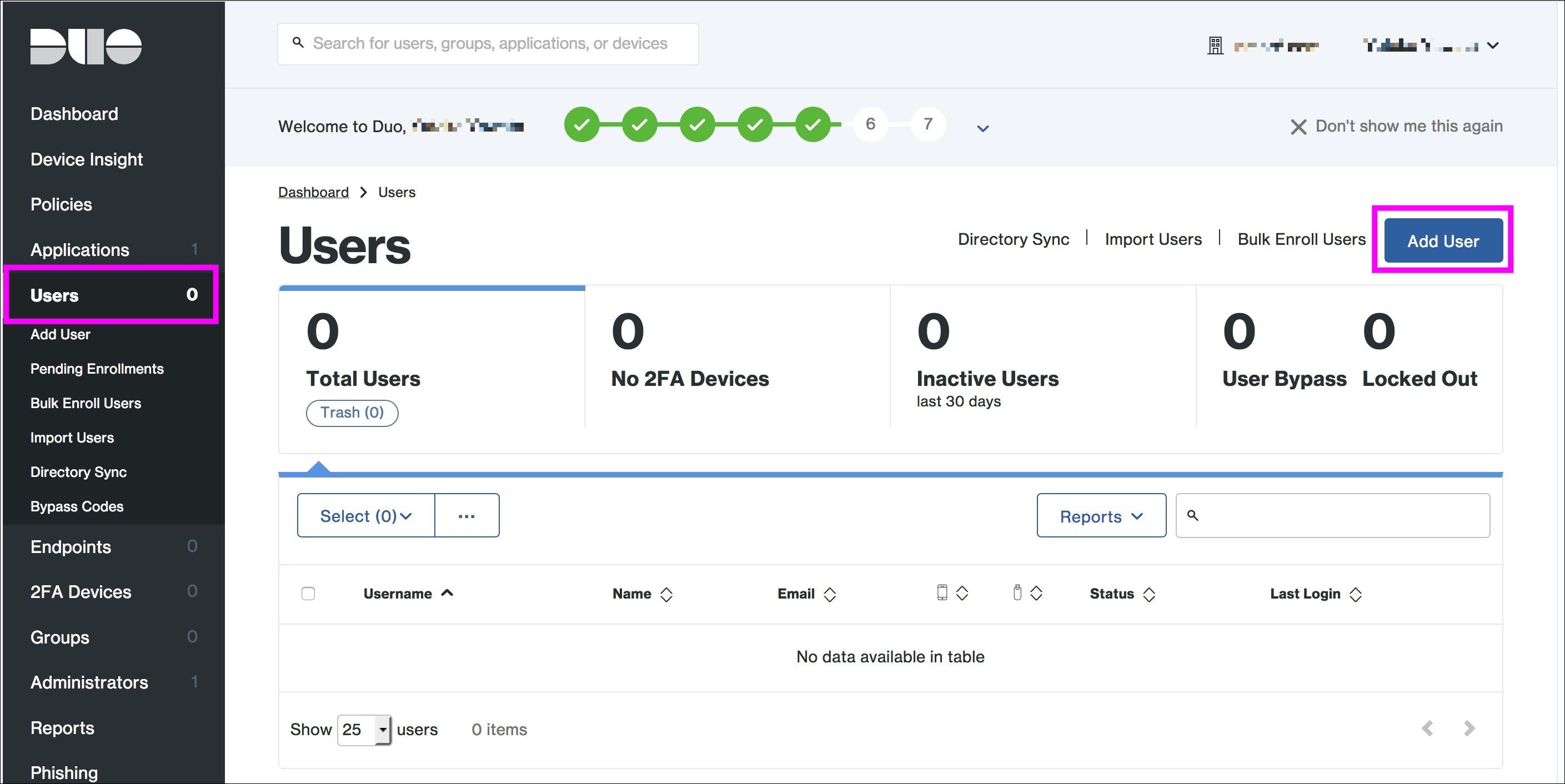 Amazon WorkSpaces MFA with Duo Microsoft AD Duoユーザー登録1