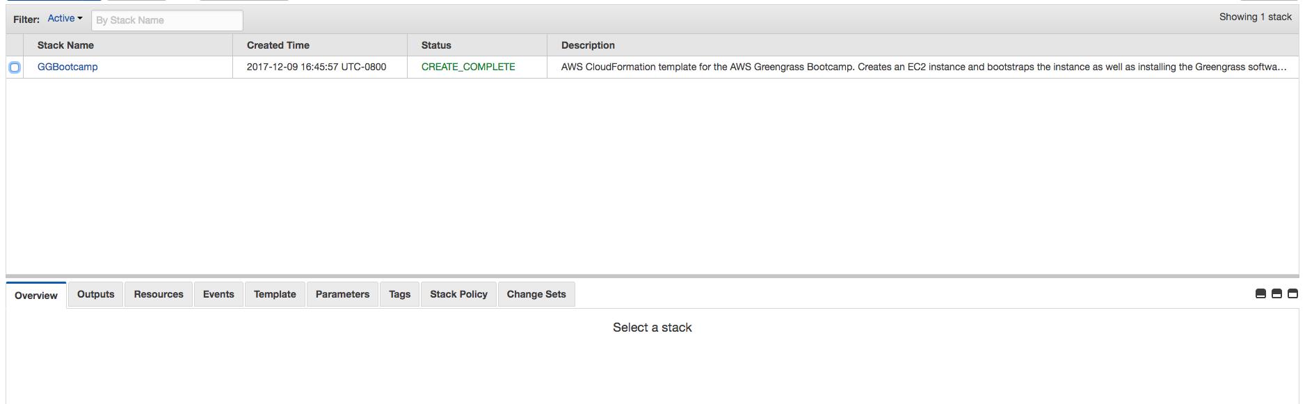 Cloudformationのstackの画像