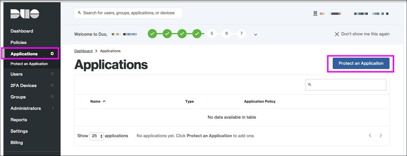 Amazon WorkSpaces + Duo RADIUSアプリケーション登録1