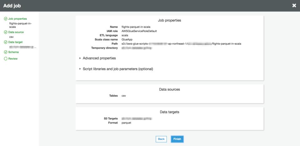 AWS Glue 新しくサポートされたScalaでETL Job作成を試してみ