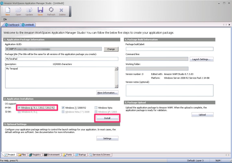 amazon workspaces application manager studioを使ってアプリケーション
