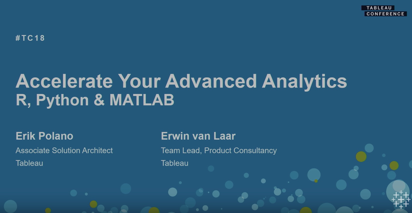 Tc18 Tableauとr Python Matlabを接続して高度な分析をする Tableau Conference 2018 At New Orleans Developers Io