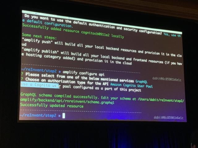 レポート] MOB324: React Native、GraphQL、およびAWSを使用した