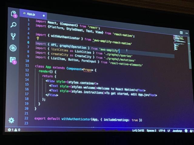 レポート] MOB324: React Native、GraphQL、およびAWSを使用したクロス