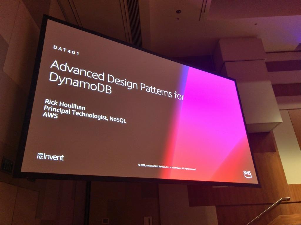 レポート dynamodbの高度なデザインパターン reinvent dat401