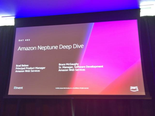 レポート deep dive on amazon neptune reinvent dat403 developersio