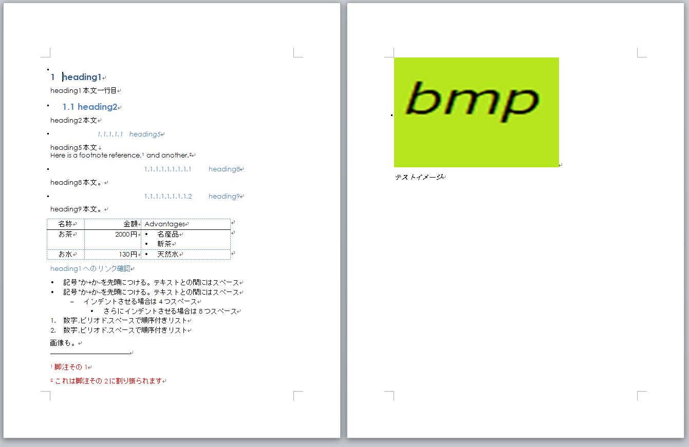 pandocでmarkdown形式ファイルからwordドキュメント(* docx)を作成する
