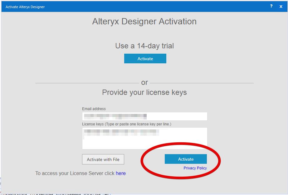 Alteryx Designerでオンラインアクティベーションをやってみた