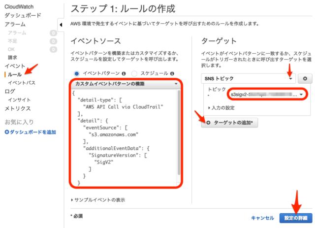 廃止予定のS3署名バージョン2API利用をCloudWatchEventで検出してみた