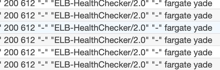 CloudWatch Logsに表示されるアクセスログに環境変数の表記あり