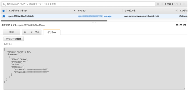 VPC Endpointポリシー