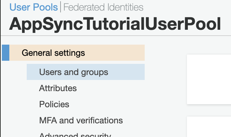 appsync-cognito-user-groups