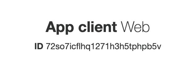 appsync-cognito-app-client-id
