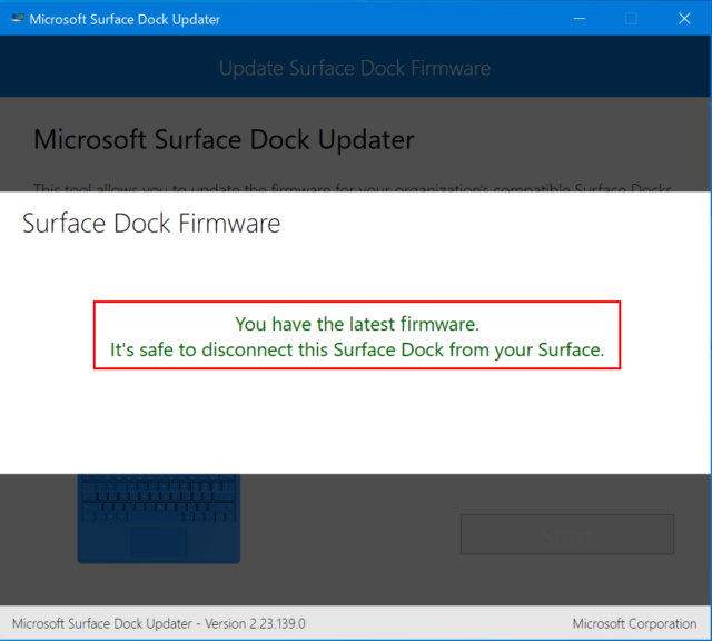 Surface Dockのファームウェアをアップデートする   DevelopersIO