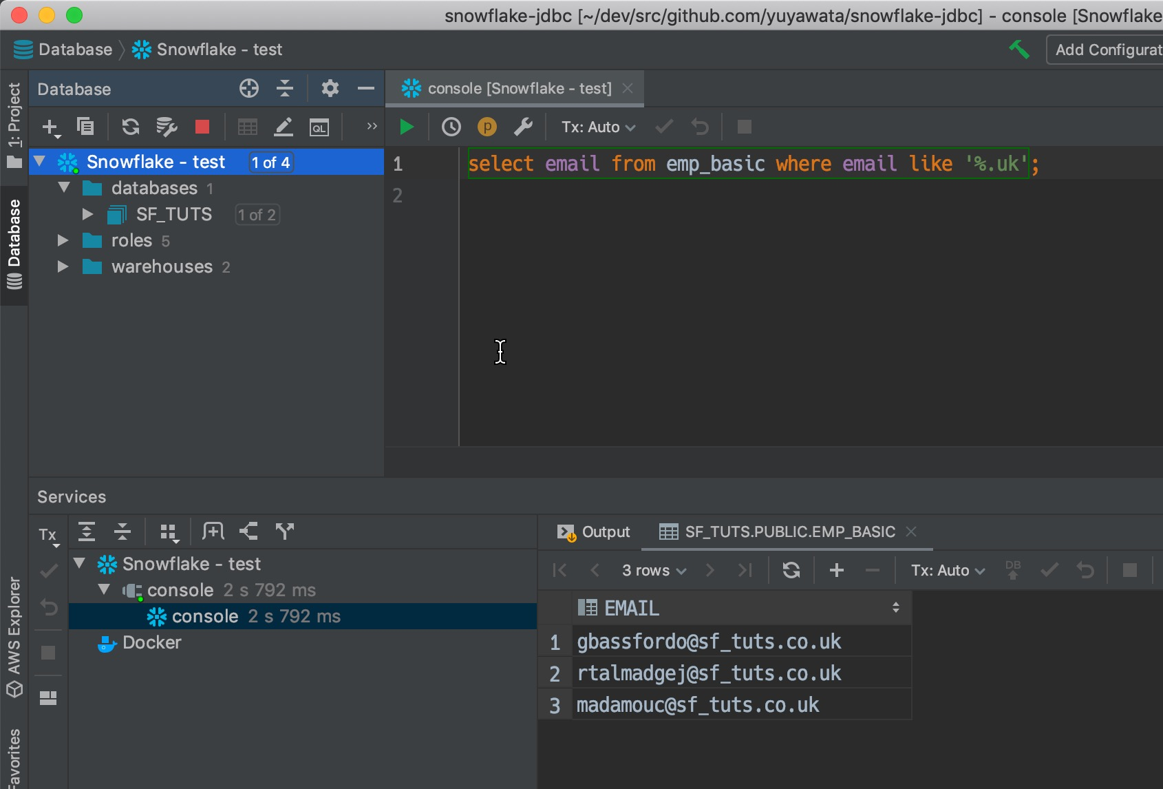 execute-query-from-intellij